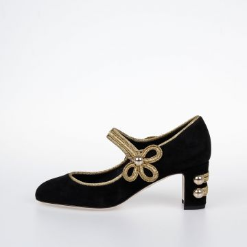 Suede Heeled VALLY Shoes
