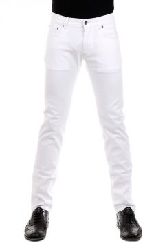 Jeans in Denim Stretch Bianco 17 cm