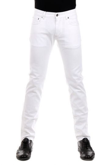 17 cm White Stretch Denim Jeans