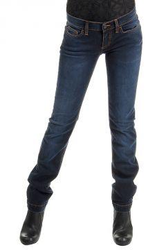Pantaloni jeans indigo in cotone elasticizzato