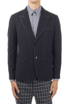 Virgin Wool Mixed Single Breasted Blazer
