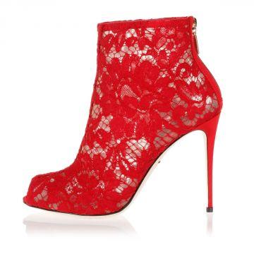 Sandalo BETTE in pelle e pizzo con tacco 11 cm