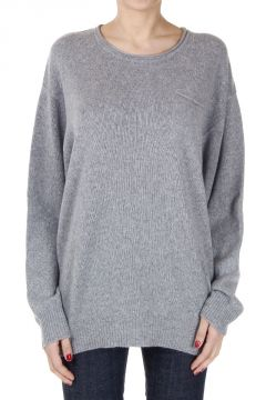 Cashmere Round Neck Sweater with Breast Pocket