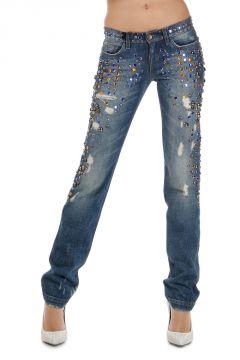 Jeans con Applicazioni 16 cm