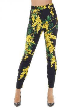 Pantaloni Capri con Stampa Mimosa