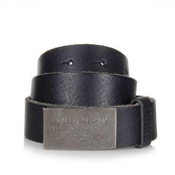 Cintura in Pelle con Fibbia Logata