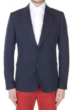 Flax and Cotton Single Breasted Blazer