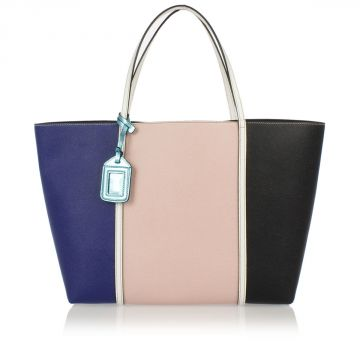 Dauphine Printed Leather Shopping Bag