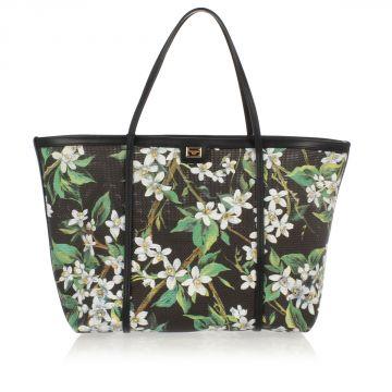 Leather Print Shopping Bag