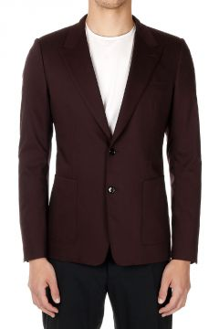 Blazer Monopetto in Lana Vergine Stretch