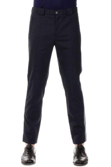Pantalone in Lana Vergine e Cotone