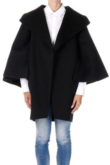 Mixed Virgin Wool Cape Coat
