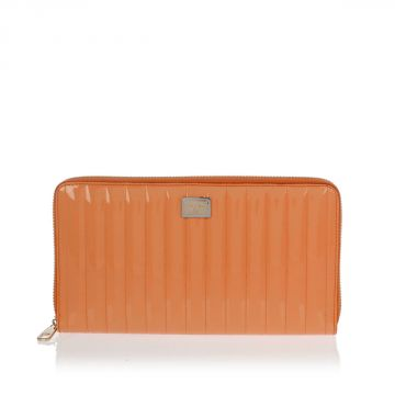 Patent Leather Zipped Wallet