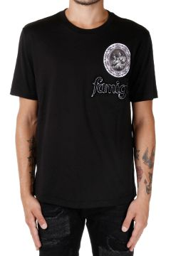 T-Shirt Girocollo con Ricamo FAMIGLIA