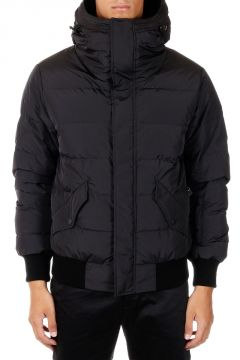 Zipped Hooded Down Padded Coat