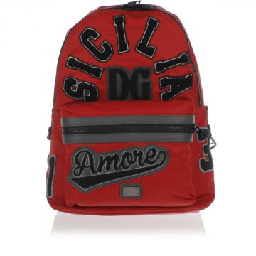 Embroided Nylon Backpack