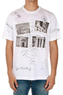 T-Shirt Stampata in Jersey di Cotone