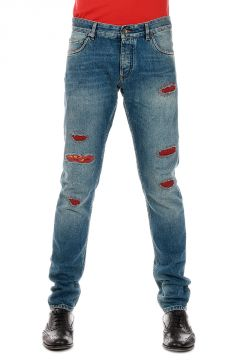 Jeans in Denim Destroyed 16 cm