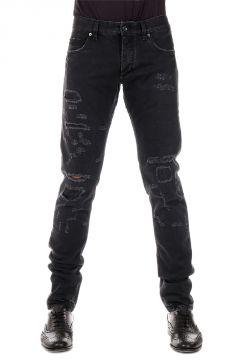 Jeans in Dark Denim Destroyed 16 cm
