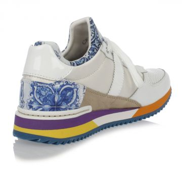 Sneakers in Pelle con Fantasia