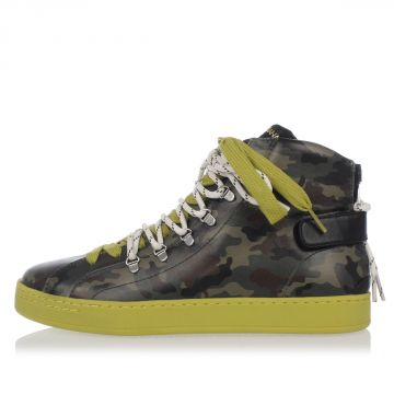 Sneakers Alte in Pelle Fantasia Camouflage