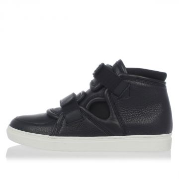 Calf Leather High Sneakers