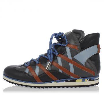 Sneakers Alte in Pelle con lacci
