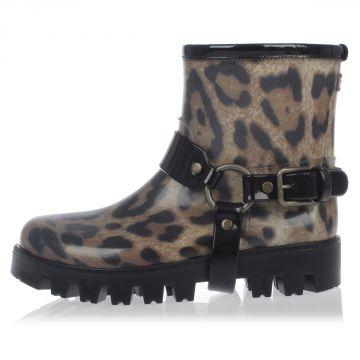 Leopard Print PIOGGIA Rain Boots