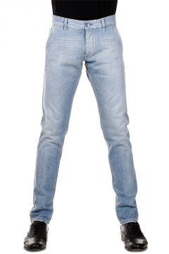 Jeans in Denim Chiaro 17 cm con cimosa