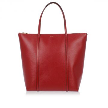 Embossed Leather Shopping Bag