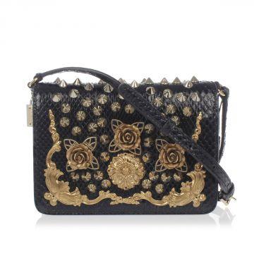 Embroidery Snake Skin Mini Bag