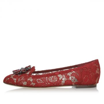 Laced VALLY Ballet Flat CHARMANT with Jewel Details