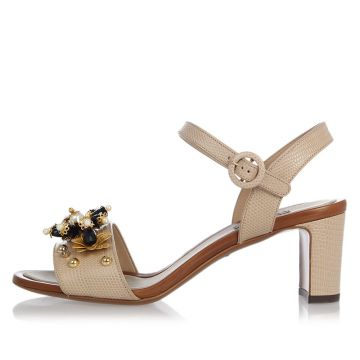Iguana Printed Leather KEIRA Sandals
