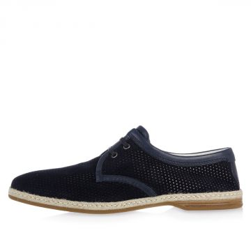 Derby in Suede Forato