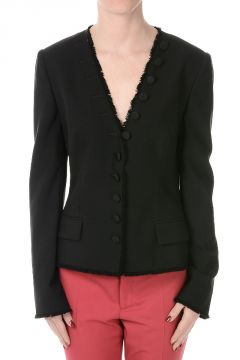 Virgin Wool Single Breasted Blazer