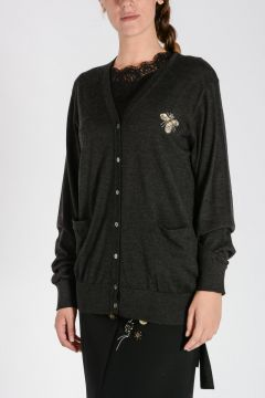 Embroidery Cashmere Cardigan