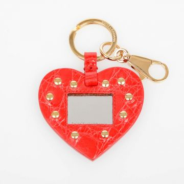 Leather Keyring with Mirror
