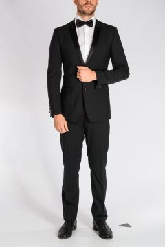 Stretch Virgin Wool Tuxedo Suit