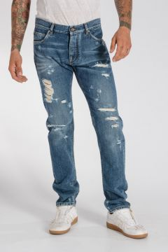 16 CLASSIC 17 cm Distressed Denim Jeans