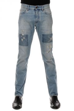 18 cm Vintage Effect Denim Jeans
