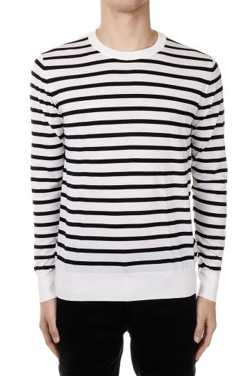 Striped Pattern Cashmere Sweater