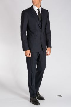 Stretch Virgin Wool 3 Pieces Suit