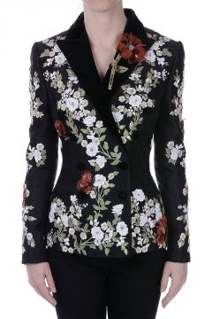 Embroidered Blazer with Sequins