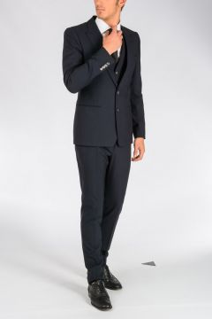 Stretch Virgin Wool 3 Pieces Suit