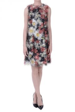Floral Printed Fringed Dress