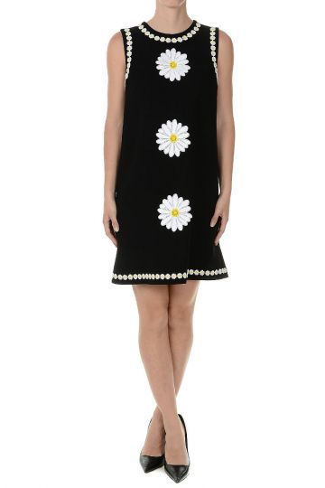 Wool Embroidery sleeveless Dress