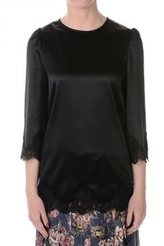 Silk Blend Embroidered Top