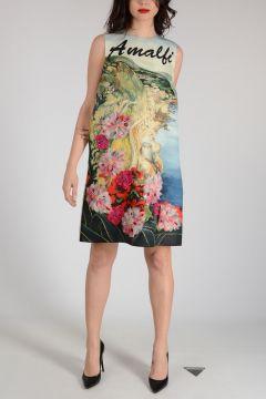 AMALFI Silk Embroidered Dress