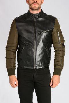 Leather and Nylon Jacket