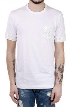 T-Shirt in Cotone con Dettagli a Pois
